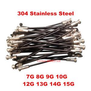Custom Length 7G-15G E-Bike 304 Stainless Steel Spokes & Nipples/ Black Color