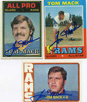 Los Angeles Rams Tom Mack signed 1971 Topps card