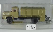 Brekina 1/87 Nr. 84006 Krupp LKW Müllwagen grün neutral OVP #5168