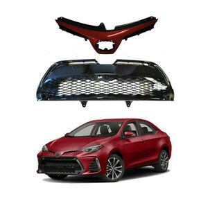 For 2017 2019 Toyota Corolla SE XSE Front Upper Lower Grill Grille Barcelona Red