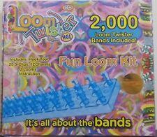 Loom Twister ~ Fun Loom Kit Bracelet Maker ~ 2000 Bands, 25 S-Clips, 2 Looms