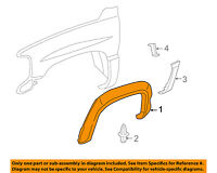 GM OEM-Front Fender Flare Wheel Well Arch Molding Left 10374851