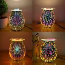 3D-Glass Aroma Lamp Night Light Electric Wax Melt Burner Firework Wax Oil Warmer