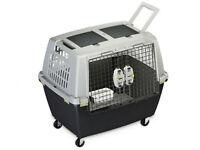 Trasportino gulliver comodo touring  per cani colore grigio 80X58,5XH62 cm
