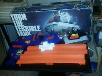 TOMY #7053 Turn the Terrible Tank in Original Box Vintage 1979 Game, non-working