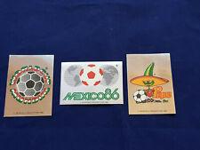 Panini WM WK WC 1986 Mexico 86, intro sticker/Bilder 1 - 2 - 3, badges/Wappen