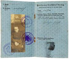 1918 Ukmerge WWI - RARE YIDDISH PASSPORT - Jewish Woman - GERMAN INVASION