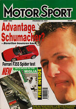 Motor Sport June 1995 -  San Marino Grand Prix, Ken Tyrrell, Ferrari F355 Spider