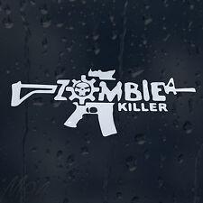 Zombie Killer Gun Machine Car Decal Vinyl Sticker For Bumper Window Panel