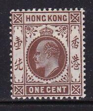 Album Treasures Hong Kong Scott # 86  1c  Edward VII  Mint Hinged