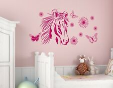 Flower Horse - highest quality wall decal stickers