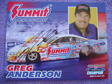 """Autograped Greg Anderson Picture 8.5"""" tall X 11' long Summit Racing"""