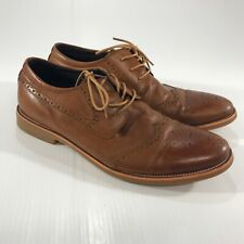 Dursen Mens Brown Wing Tip Lace Up Oxfords Casual Shoes Size 9