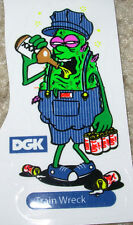 "DGK Train Wreck Logo Skate Sticker 3.25 X 2"" skateboards helmets decal diamond"