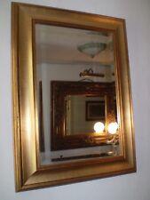 Con Estilo Vintage Danish 1970's dorado espejo, Borde Biselado, BONITO Condición