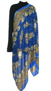 Stola Schal Tuch Bollywood Indisch Dupatta Stoff Sari Goa Hippie 198cm x 190cm