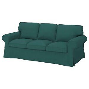 IKEA UPPLAND 3 Seat Sofa Slipcover Cover for sofa, Totebo Dark Turquoise 🦋New🦋