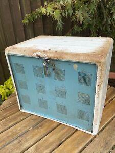 Vintage Retro TALA Metal Fridge Meat Cooler Kitchen VW Camper Cabinet Blue White