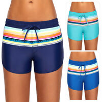 Ladies Women High Waist Bikini Bottoms Swim Shorts Trunks Swimwear Beach Pants