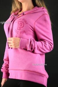 Victoria's Secret PINK Hi Low Hoodie Logo Sweatshirt Graphic Pullover NWT