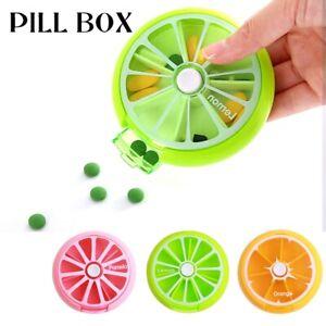 7 Day Weekly Pill Organizer Medicine Storage Box Portable Travel Case Container