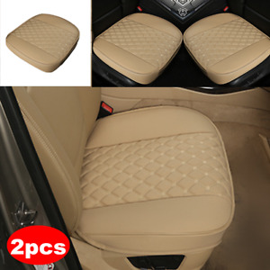 2PCS PU Leather Car Front Cover Cushion Seat Protector Full Surround Universal