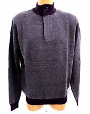 Toscano Mens Eggplant Pullover Sweater Size Large