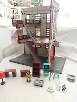 Playmobil ghostbusters Firehouse Playset 9219 incomplete Ray Stantz retro