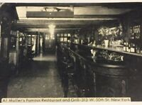 Postcard, New York AI. Muller's Famous Restaurant And Grill Vintage P06