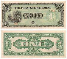 1942 PHILIPPINES Allied Counterfeit Destabilizer P106 1 Peso JIM Banknote UNC