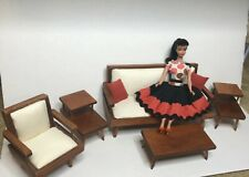 Vintage Mid Century Hall's 50s 60s Barbie style furniture Sofa Set Tables Chair