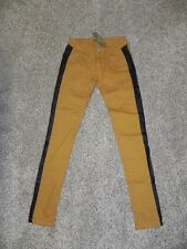 Romeo & Juliet Couture Jeans Size 24 Mustard Black Womens Inseam 29 NWT $165
