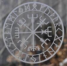 Icelandic asatru viking compass rune vegvisir etched glass vinyl decal sticker