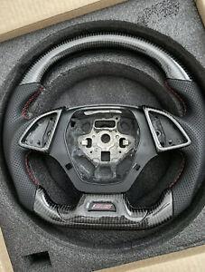 2016+ Chevrolet Camaro SS Carbon Fiber Steering Wheel w/ Carbon Accents