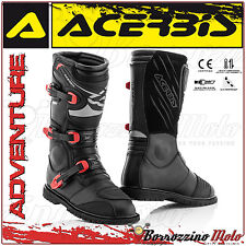 Acerbis adventure bottes noir/rouge off-road moto cross quad enduro taille 41