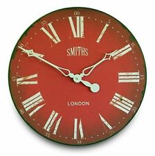 Smith's Red Wall Clock - 50cm