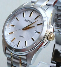 NEW Seiko Mens Gents Watch HARDLEX Crystal Stainless Steel RRP £250