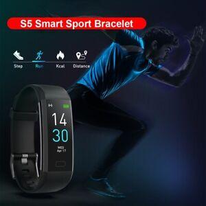 Bluetooth Smart Watch Bracelet Heart Rate Fitness Tracker Pedometer Fit UK New