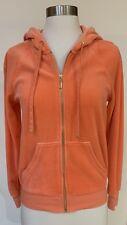 Juicy Couture Orange Velour Hoodie Jacket