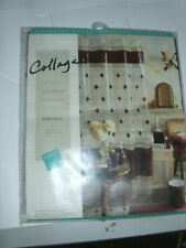 "New NWT Collage Diamonds Burgundy Vinyl Shower Curtain 70x72"" Portofino"