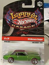 Hot Wheels Larry's Garage Real Riders Tires '68 Mercury Cougar Green