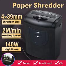 5.5Gallon 8 Sheet Cross Cut Paper Credit Card CD Shredder Dual Cutting Low
