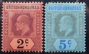 Br. Honduras Scott # 59-60, Mint Original Gum (HR)