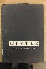 lister engines original folder full of service bulletine sheets booklets etc