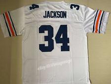 Vintage Bo Jackson #34 Football Jerseys White Blue Stitched Custom Any Names