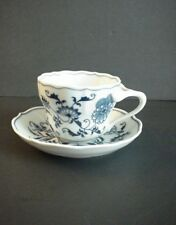 Blue Onion Blue Danube Cup & Saucer Made Japan Rectangle Mark