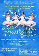 LES BALLETS TROCKADERO DE MONTE CARLO Theatre Flyer Handbill