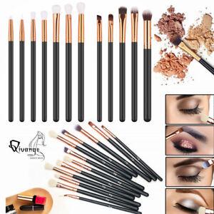 12pcs Professional Eyeshadow Blending Pencil Eye Brushes Set Makeup Tool UK