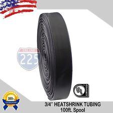 100 Ft 100 Feet Black 34 19mm Polyolefin 21 Heat Shrink Tubing Tube Cable