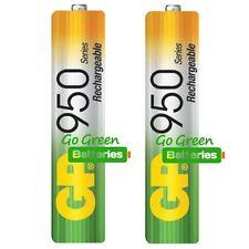 2 x GP AAA 950 mAh Rechargeable Batteries (prev. 1000 mAh) NiMH LR03 HR03 Phone